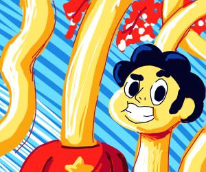 Steven Universe's long neck