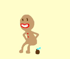 gingerbread man shits chocolate kisses
