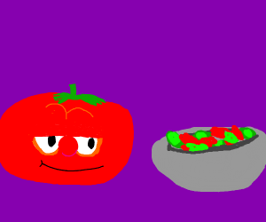 Bob from veggie tales has a murderous intent