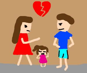 Divorce is hardest on the kid