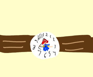 Mario is trapped in a wristwatch.