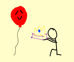 Balloon gets crowned queen