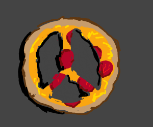 """""""peace"""" of pizza"""