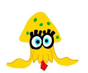 Spongebob as a squid