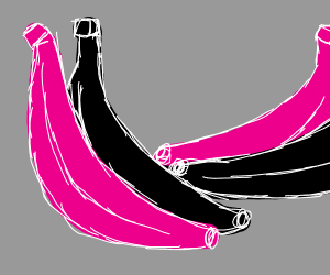 Black and pink bananas