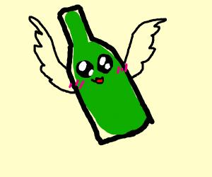 Kawaii flying bottle