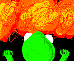 kermit has gone mad with bombs