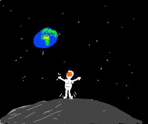 Astronauts stuck on the moon.