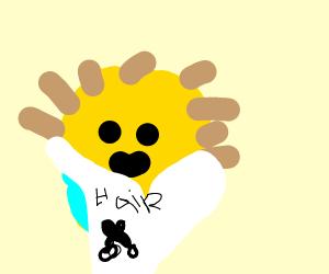 Pufferfish hairstylist