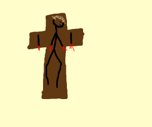 Jesus lost his arms