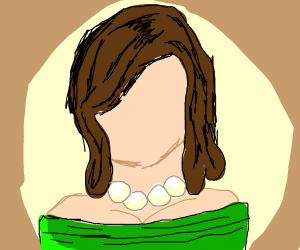 A girl with no face.