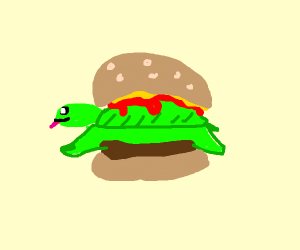 Cute turtle burger