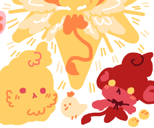 Pansear ascends, becomes a Pokeangel