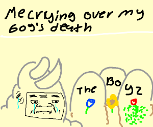 Man crying over best friends death