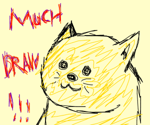 doge saying much draw