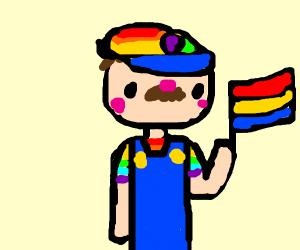 gay pride mario