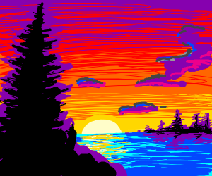 A warm sunset