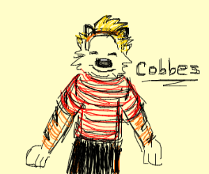 calvin and hobbes as one