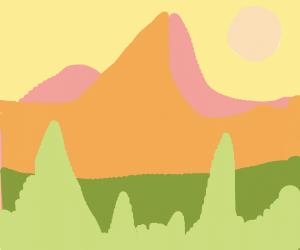 A Happy Mountain Range
