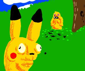 Yelmo stalks pikachu