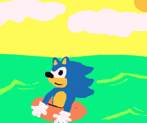 Sonic in the sea