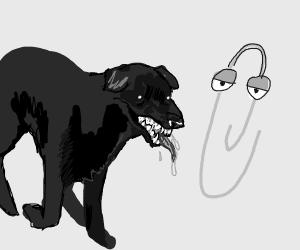 Clippy has a pet hellhound