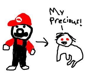 Mario transforms into Gollum.