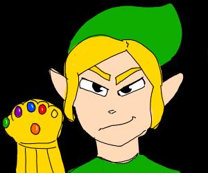 link has infinity gauntlet