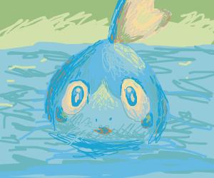 Blue lizard looking Pokemon