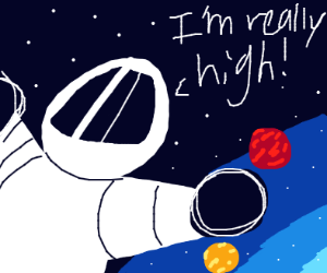 High in space