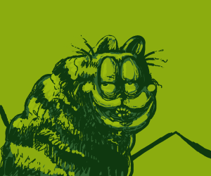 Disturbing Green Garfield