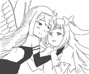 Akuma Homura and Goddess Madoka