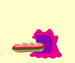 Ditto eating a sammich