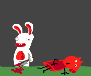 Raving Rabbids kills Peppa Pig