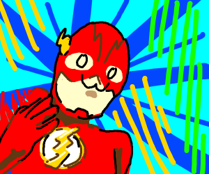 The Flash with an owo face