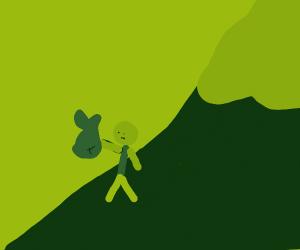 we gawt dead fish in a green mountain