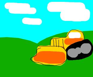 guy in a bulldozer (i think)
