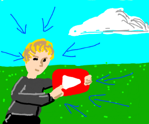 Blonde guy pressed the youtube play button