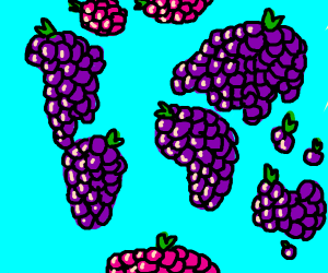 The continents are grapes