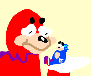 Uganda Knuckles Monster Fighting Sonic