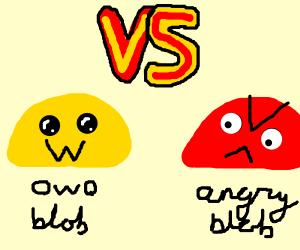 Yellow blob Vs. Pink blob