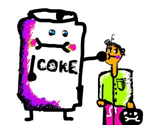 coke can beating orange guy