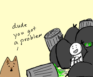 Cat notices your trash problem