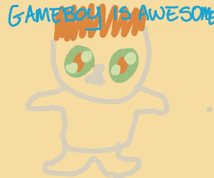 Kid thinks Gameboy is awesome