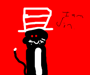 cat in the hat on crack/but it's opposite day