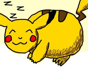 pikachu takes a nap