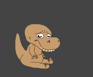 sad cute dinosaur