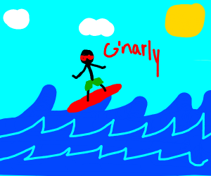 Rad Stickman Goes Surfing!
