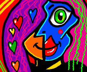 Picasso style art