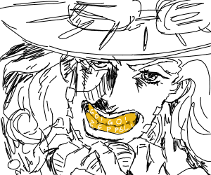 Cowboy with a creepy smile